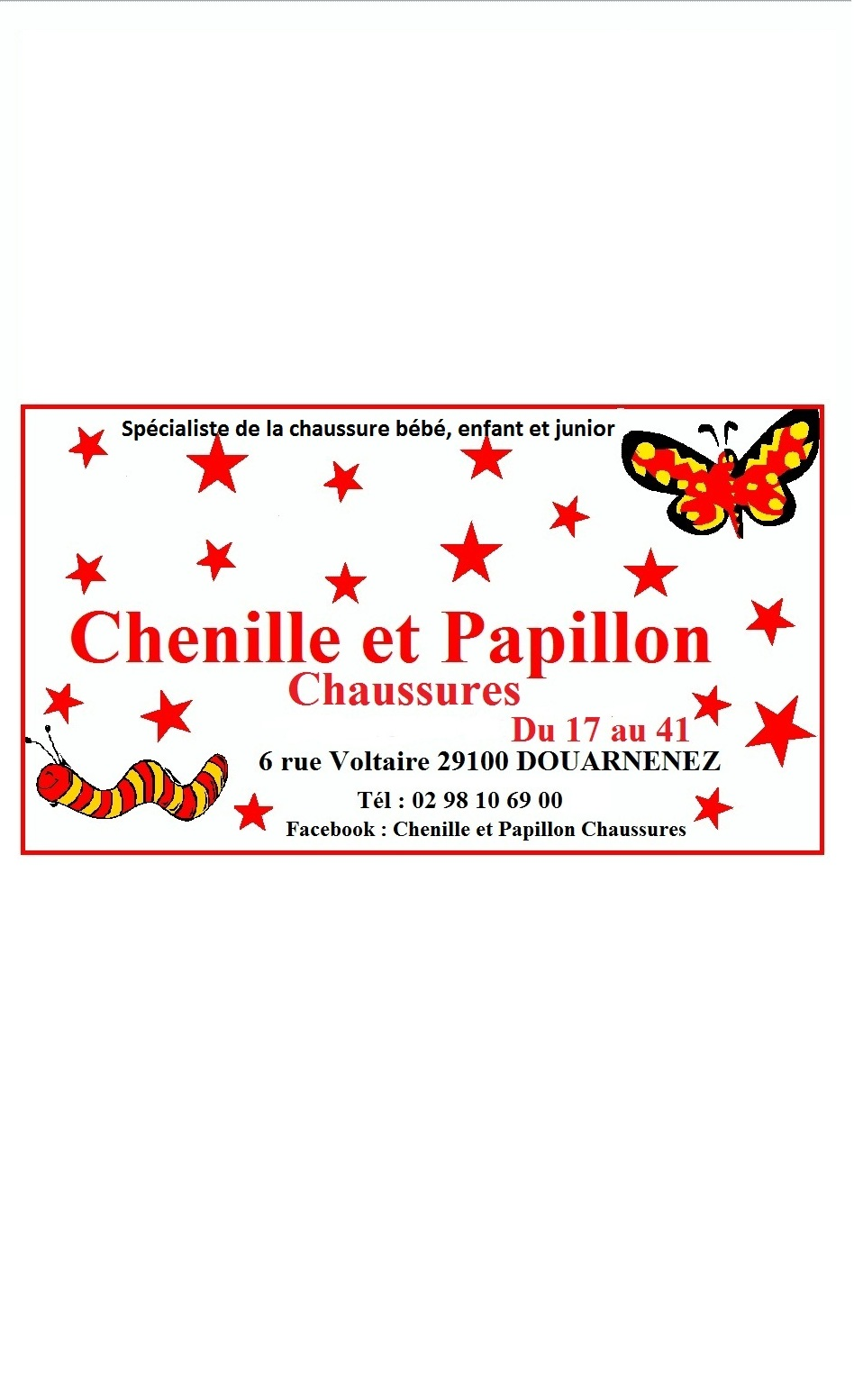 Illustration Shopping Chenille et Papillon - Chaussures