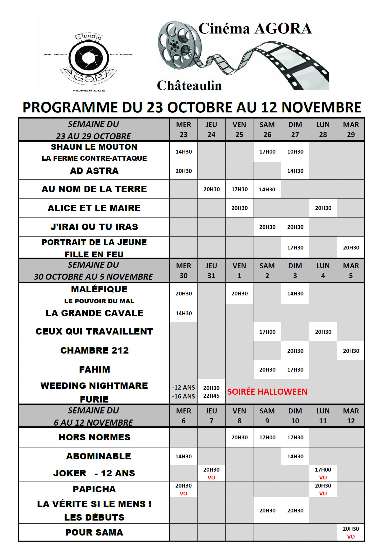 Programme  Cinéma Agora