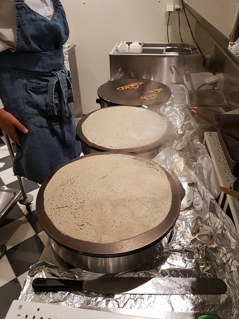 Stage de confection de crêpes