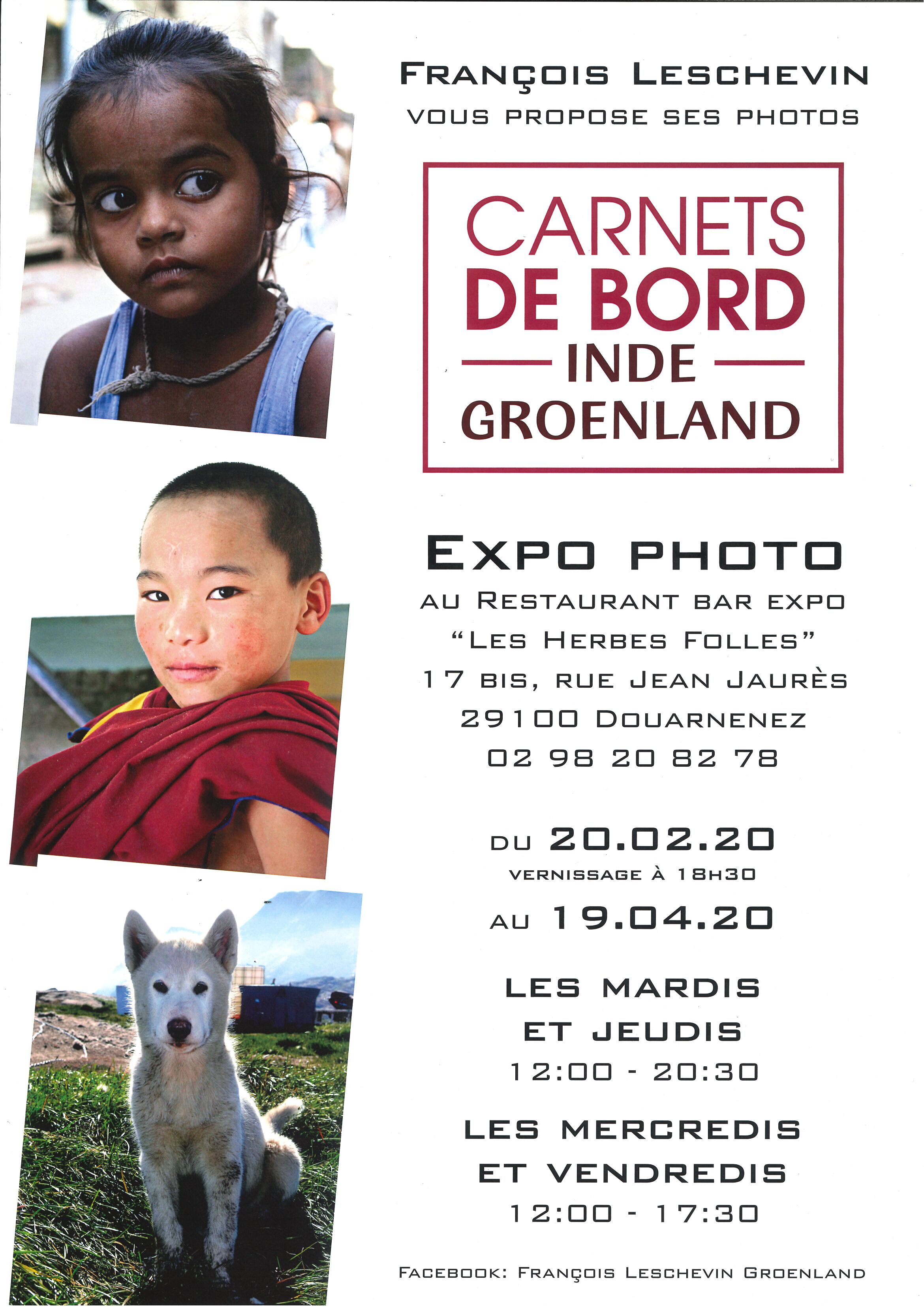 "Exposition Photo ""Carnets de Bord Inde et Groenland"""